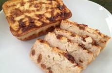 proteinový jablečný rýžový koláč