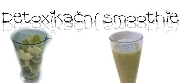 Detoxikační kiwi smoothie koktejl