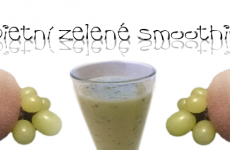 Dietní zelený smoothie kiwi a víno
