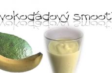 avokadový smoothie koktejl