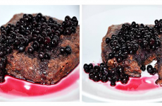 Dietní borůvkový koláč