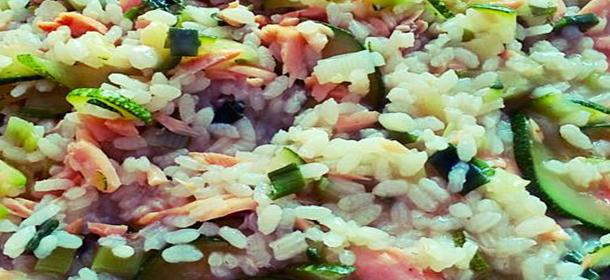 Fitness recept na dietní lososové rizoto